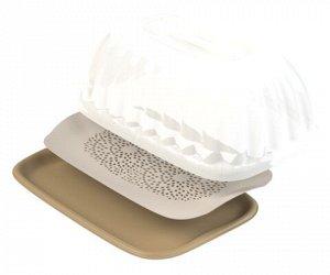 Контейнер для продуктов с вкладышем-сушилкой (406×266×167мм) (Хлебница)