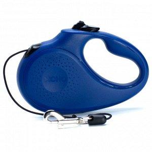 Рулетка Classic (S) синяя (трос) 5м 15кг