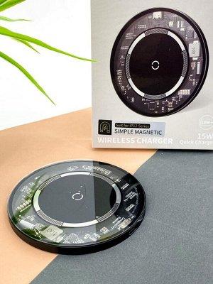"""Зарядное устройство для IPHONE 12 и других смартфонов MagSafe """"черный"""""""