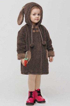 Пальто Зима Фэшн 03SD-6-13 коричневый_под_облегченный_мутон
