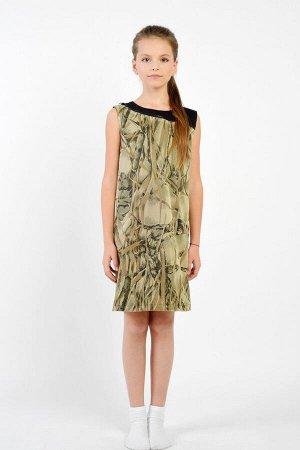 Платье GuliGuli П-35д тропическая-абстракция
