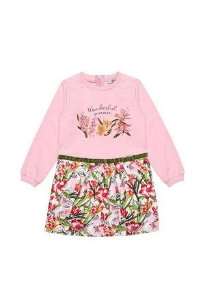 Платье Bell Bimbo 180348 розовый/набивка