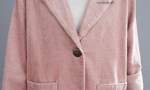 Вельветовый жакет, розовый