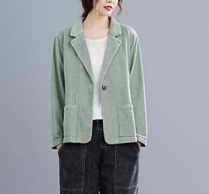 Вельветовый жакет,зеленый