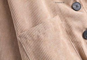 Вельветовый кардиган, бежевый