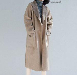 Пальто, темно-бежевый
