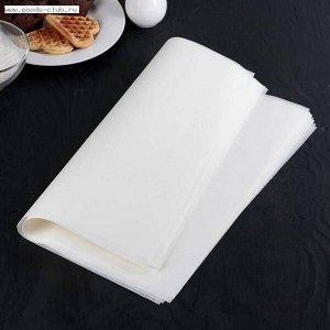 Бумага для выпечки силиконизированная 38х42 см, 20 листов, белая