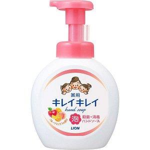 "Мыло-пенка для рук ""KireiKirei"" с ароматом МИКСА фруктов (помпа) 500 мл"