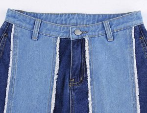 Женские широкие джинсы, цвет голубой/темно-синий