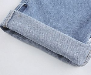 Женские широкие джинсы с завязками на лодыжках, цвет голубой