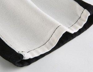 Женские прямые брюки, цвет молочный/черный