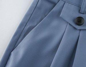 Женские широкие брюки, цвет серо-голубой