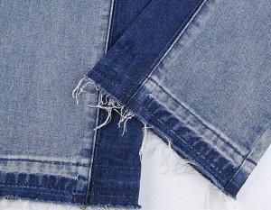"""Женские широкие джинсы, надпись """"Nothing`s better than you"""", цвет синий/темно-синий"""
