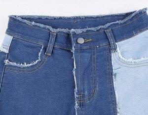 Женские широкие джинсы, цвет голубой/синий/темно-синий