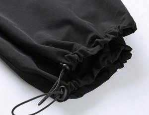 """Женские брюки джоггеры, принт """"Дракон"""", цвет черный"""