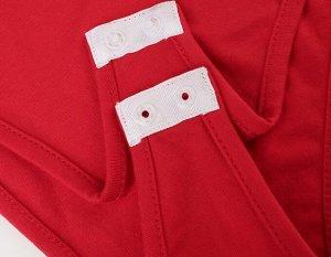 Женское боди-поло, цвет красный