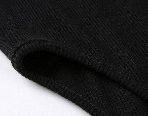 Женское боди с завышенной талией, цвет черный