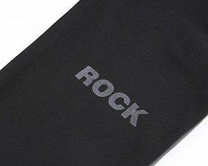 """Женское боди с длинным рукавом, надпись на рукавах """"Rock more"""", цвет черный"""