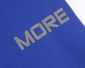 """Женское боди с длинным рукавом, надпись на рукавах """"Rock more"""", цвет синий"""