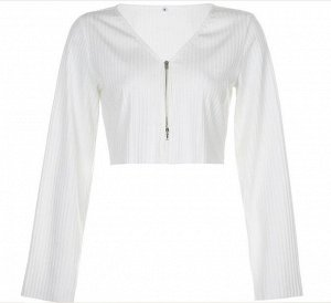Женская кофта с широкими рукавами, цвет белый