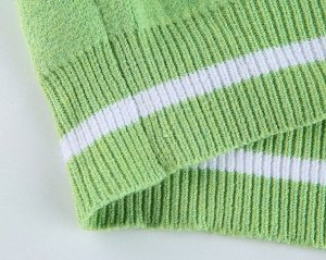 Женский свитер с V-образным вырезом, с принтом, цвет зеленый