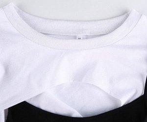 Женская кофта с завязками, цвет черный/белый