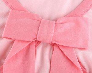 Женский кроп-топ с длинным рукавом, декор бант, цвет розовый