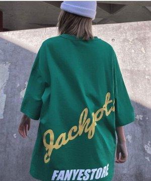 """Футболка унисекс, принт """"Rockers"""", надписи, цвет зеленый"""