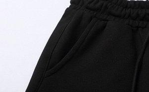 Брюки-джоггеры унисекс, с принтами и надписями, цвет черный