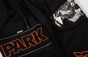 """Брюки-джоггеры унисекс, надпись """"Park"""", со светоотражающими элементами, цвет черный"""