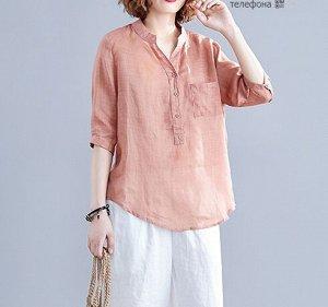 Легкая рубашка, розовый