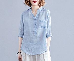 Легкая рубашка, голубой
