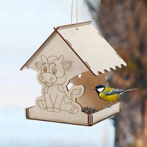 Кормушка для птиц «Бык новогодний», 18 ? 16 ? 15 см