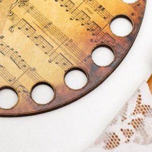 """Заготовка для вязания """"Круг. Музыкальная пауза"""" 10 см"""