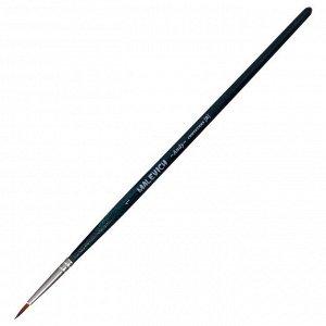 Кисть Синтетика Круглая, Malevich Andy № 1, d-1.0 мм, L-8 мм (короткая ручка), синий лак 753001