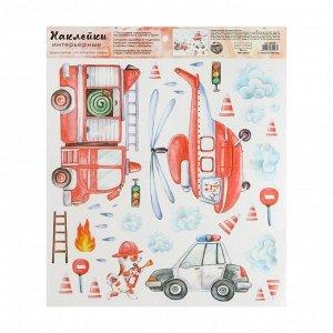 Наклейка виниловая «Бимка пожарный». интерьерная. 30 х 35 см
