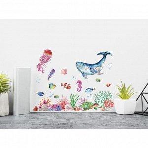 Наклейка виниловая «Подводный мир». интерьерная. 30 х 35 см