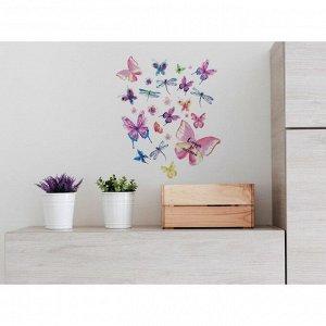 Наклейка виниловая «Бабочки». интерьерная. 30 х 35 см