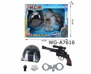 Набор игровой Junfa Юный спецназовец (каска, пистолет, наручники, жетон, свисток), в коробке379