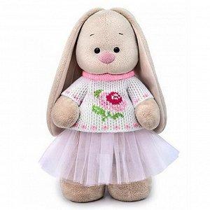 Мягкая игрушка BUDI BASA Зайка Ми в жаккардовом свитере и юбке 25 см9