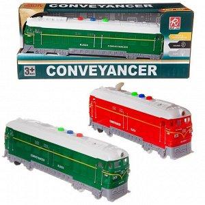 Поезд-локомотив Junfa пластмасовый, фрикционный, со световыми и звуковыми эффектами, в коробке, 26,2х7,5х10,5см1