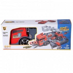 """Машинка-трансформер """"Пожарная станция"""", с 2 машинками, в коробке 38.8x15.5x10.6365"""