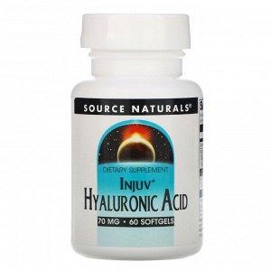 Source Naturals, Injuv, гиалуроновая кислота, 70 мг, 60 мягких таблеток