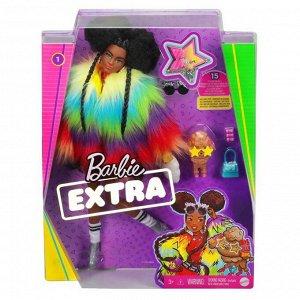 Кукла Mattel Barbie Экстра в радужном пальто44