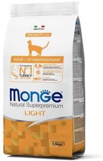 Monge Cat Speciality Light низкокалорийный корм для кошек с индейкой 1,5 кг