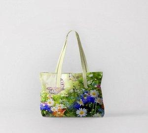 Пляжная сумка Луговые бабочки (50х40 см)