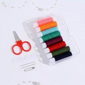 Набор для шитья, в пластиковой коробке, цвет разноцветный