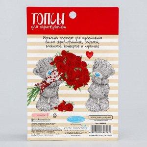 Топсы для скрапбукинга «Розы», Me To You, D = 2,5 / 1,9 см