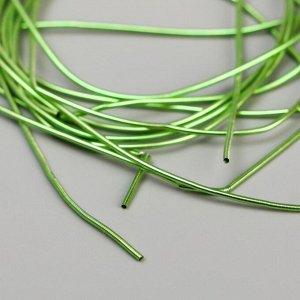 Канитель мягкая, фигурная 2 мм, глянец зеленый 5 гр