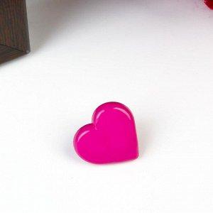 """Пуговицы пластик для творчества на ножке """"Цветные сердечки"""" набор 60 шт 1,2х1,2 см"""
